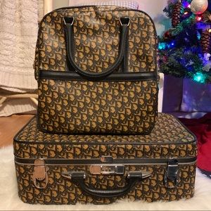 Christian Dior Vintage Suitcase and Train Bag